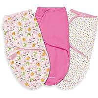 Summer Infant 3 Piece SwaddleMe Adjustable Infant Wrap, Hoot I'm Cute, Large by Summer Infant