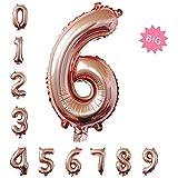 特大数字パーティー誕生日飾りアルミシャンパンカラーバルーン100cm(0-9) (6)