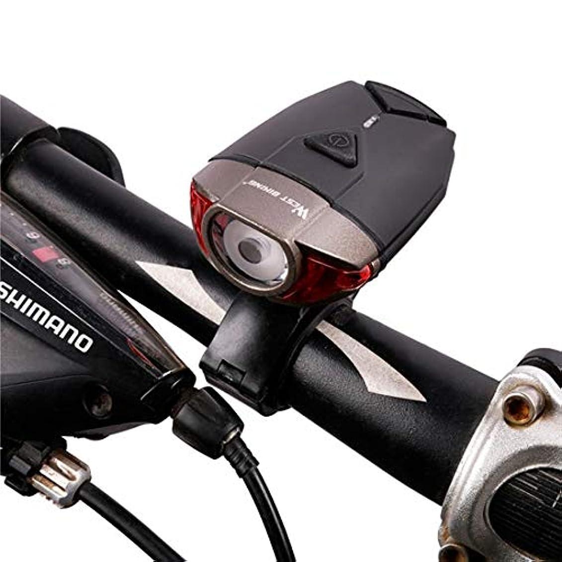 インデックスフォージ予報西 サイクリング 防水 バイクヘルメットライト usb 充電式自転車 ハンドルバーライト 安全道路 マウンテンバイクサイクリングフロントライト