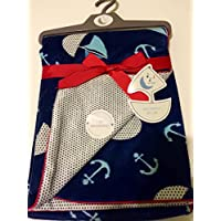 Baby Blanket Sailing Reversable by Sweet Lullaby