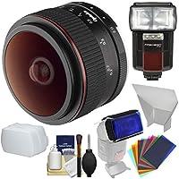 Opteka 6.5MM F / 2HD MF Prime魚眼レンズレンズとFlash +吹き出し口+キットfor XシリーズFujifilmデジタルカメラ