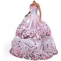 Nice Days(ナイス ディズ) ドール 服 1/6 着せ替え お姫様のドレス 華やか ウエディングドレス スパンコール ピンク
