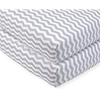 Babies R Us Grey Chevron Printed Sateen Crib Sheet - by Babies R Us