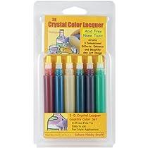 3次元結晶ラッカー色ペン 6/Pkg-国