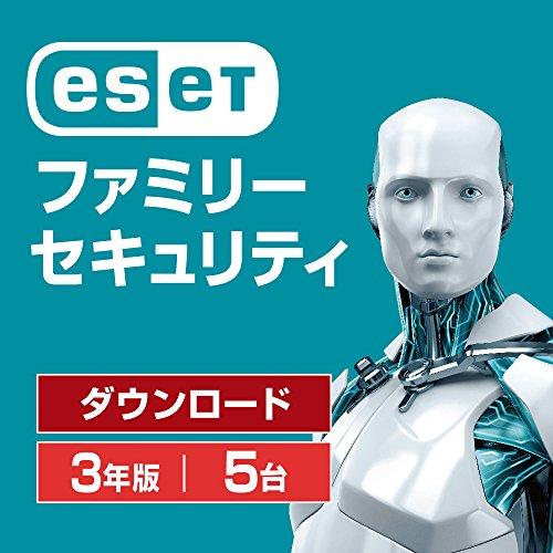 ESET ファミリー セキュリティ (最新版) | 5台3年版 | オンラインコード版 | Win/Mac/Android対応