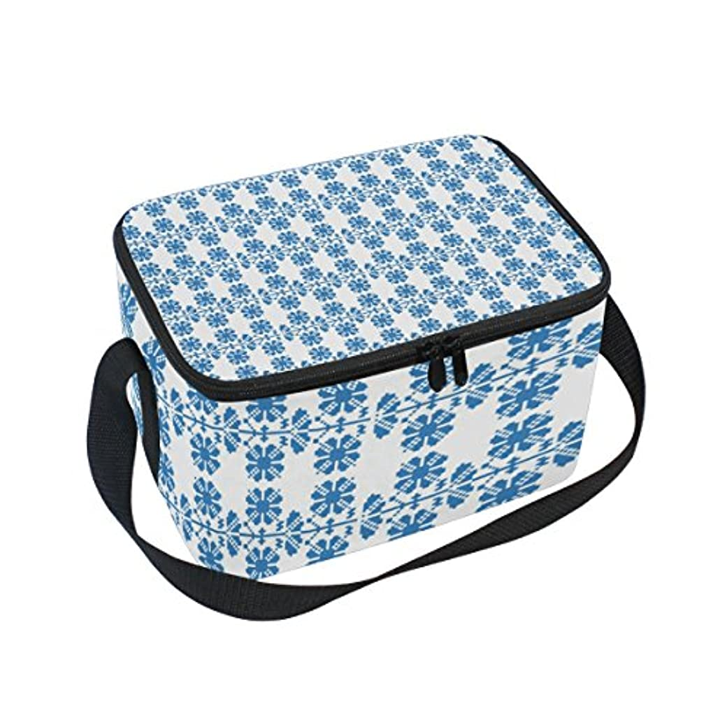 援助カカドゥ衝突クーラーバッグ クーラーボックス ソフトクーラ 冷蔵ボックス キャンプ用品 幾何模様 青 保冷保温 大容量 肩掛け お花見 アウトドア