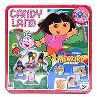 Candy Land Nick Jr. Dora the Explorer Collectors Tin Edition Plus Go Diego Go! Edition Memory Game [並行輸入品]