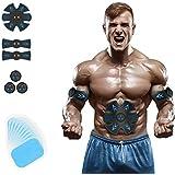 YFFSS Abs Stimulator EMS Abdominal & Full Trainer Abdominal Toning Belt Portable Muscle Trainer Body Muscle Fitness Trainer Operation for Abdomen/Arm/Leg Training Men Women
