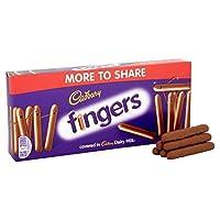 ミルクチョコレート指138グラム (Cadbury) (x 6) - Cadbury Milk Chocolate Fingers 138g (Pack of 6)