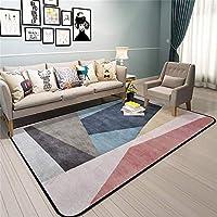 現代のクリエイティブカーペット、居間の寝室のオフィスのコーヒーテーブルのコンピュータチェアのベッドサイドのカーペットのタイルのマットのための絶妙な正方形の幾何学的な滑り止めの着用可能な柔らかい耐久財、(サイズ:160 * 230 cm) AI LI WEI (サイズ さいず : 160*230cm)