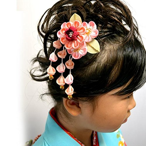 七五三 日本製髪飾り2個 2タイプ/2(ピンク)...