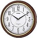 MAG(マグ) 掛け時計 非電波 アナログ モアマグ 直径33cm 連続秒針 ブラウン W-648BR-Z