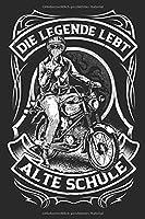 Die Legende Simson S51 Moped Alte Schule Oldtimer Notizbuch
