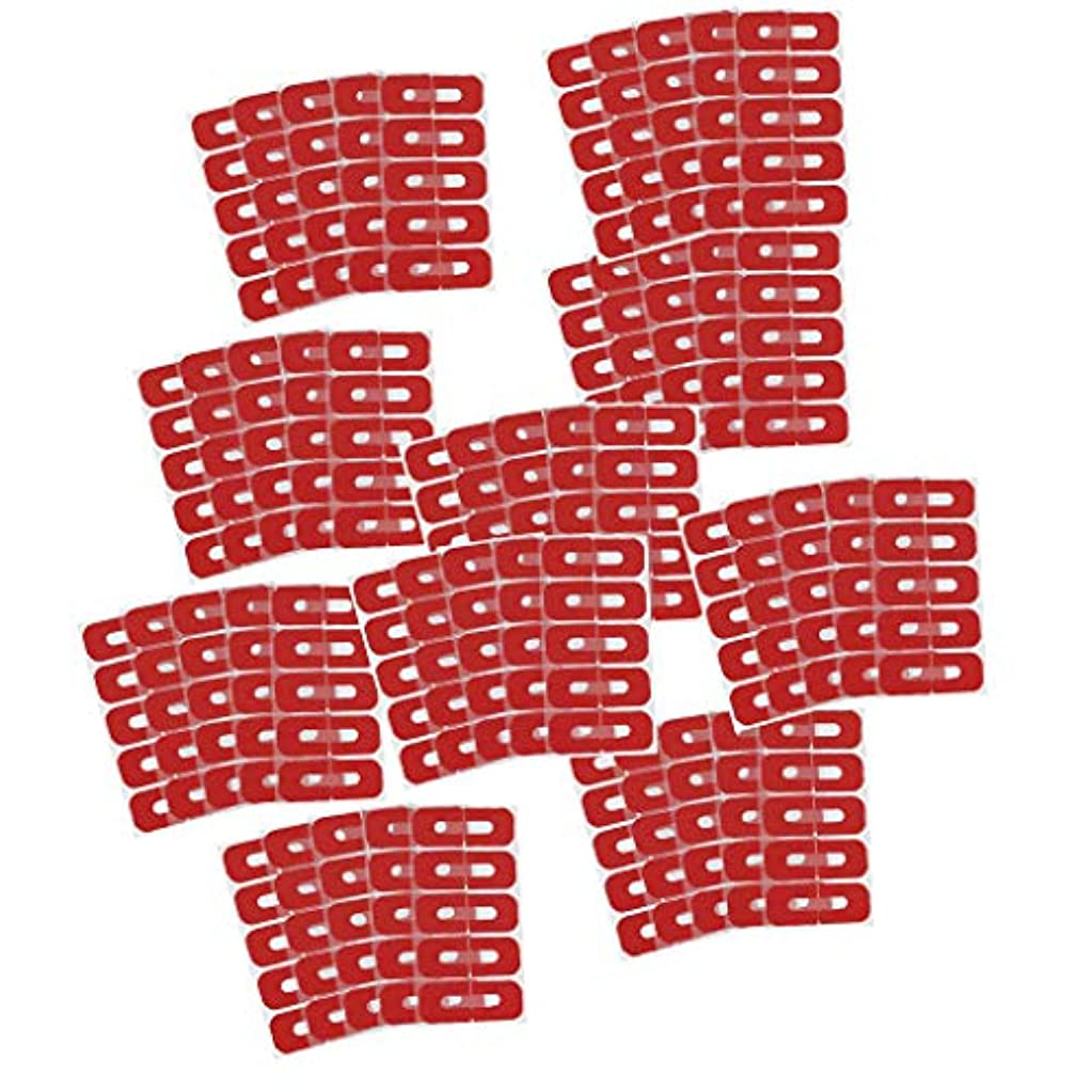 シュリンク天井顧問Toygogo 50ピース赤使い捨てピールオフテープネイルアートこぼれ防止スキンバリアポーランドプロテクターカバーガード