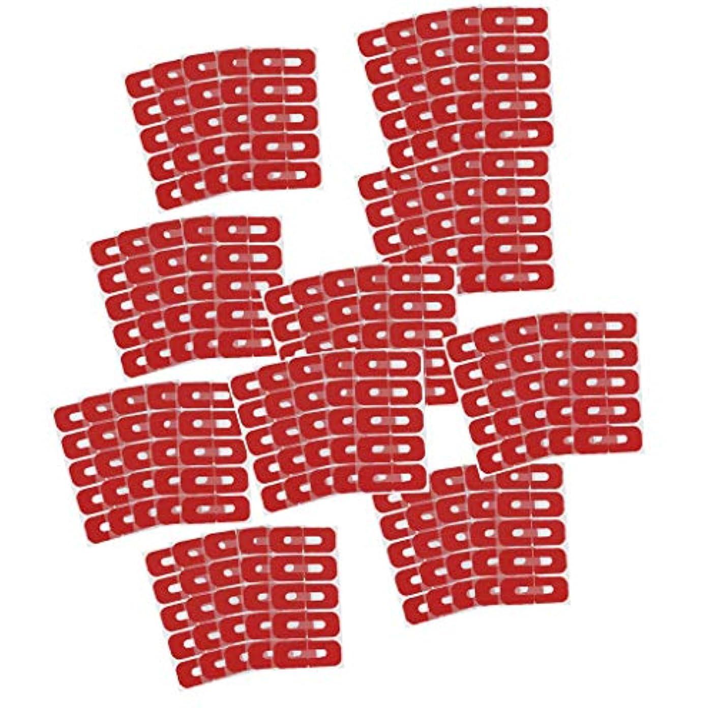 自慢シンプルな確実Toygogo 50ピース赤使い捨てピールオフテープネイルアートこぼれ防止スキンバリアポーランドプロテクターカバーガード