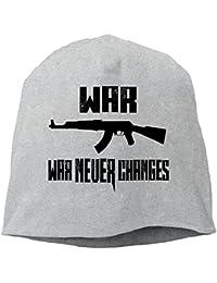 【Dera Princess】 男女兼用 ニット帽 War Never Changesロゴ コットン ニットキャップ 帽子 オールシーズン 被れる