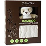 Bubba Blue Baby Toddler Supersoft Bamboo Viscose Cotton Security Blanket With Cute Bear White Unisex