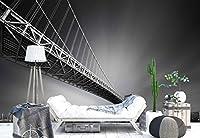 ブリッジ金属構造超高層ビルフォト壁紙壁画 XXL - 13ft 8in x 9ft 6in (WxH)