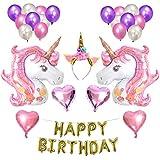 Baoblaze 風船セット ユニコーン 誕生日 バナー パーティー サプライヤー 3色選べ - #3