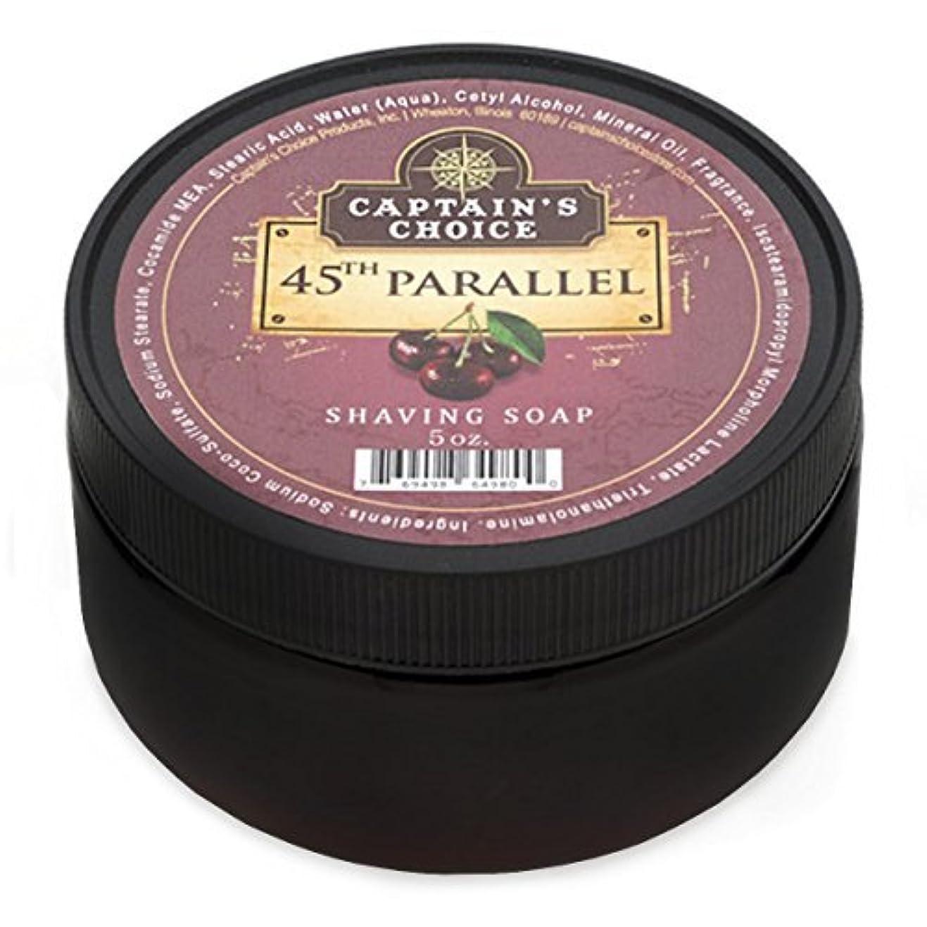 個人信頼性意志Captain's Choice 45th Parallel Shaving Soap 4oz [並行輸入品]