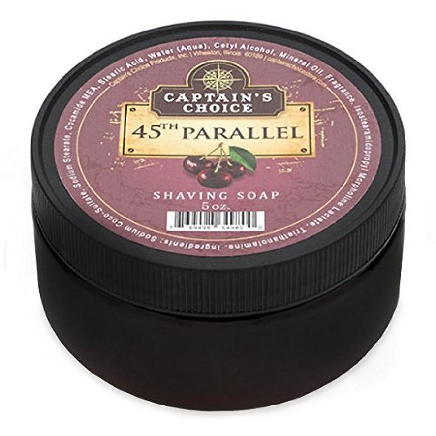 散歩今ユーザーCaptain's Choice 45th Parallel Shaving Soap 4oz [並行輸入品]