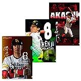 SoftBank HAWKS(ソフトバンクホークス) 福岡ソフトバンクホークス 2018 選手 クリアファイル 3枚セット (明石)
