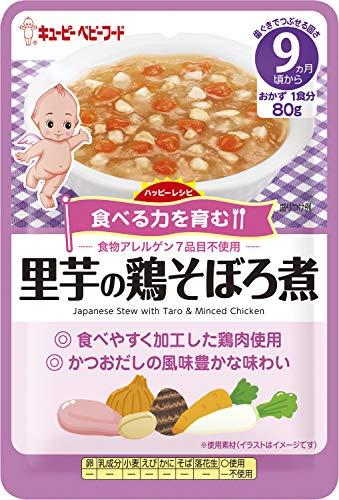キユーピーベビーフード ハッピーレシピ 里芋の鶏そぼろ煮 80g[9ヵ月頃から]×6袋