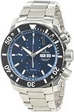 Edoxメンズ011153BUINクラス1自動ステンレススチールクロノRotating Bezel Watch