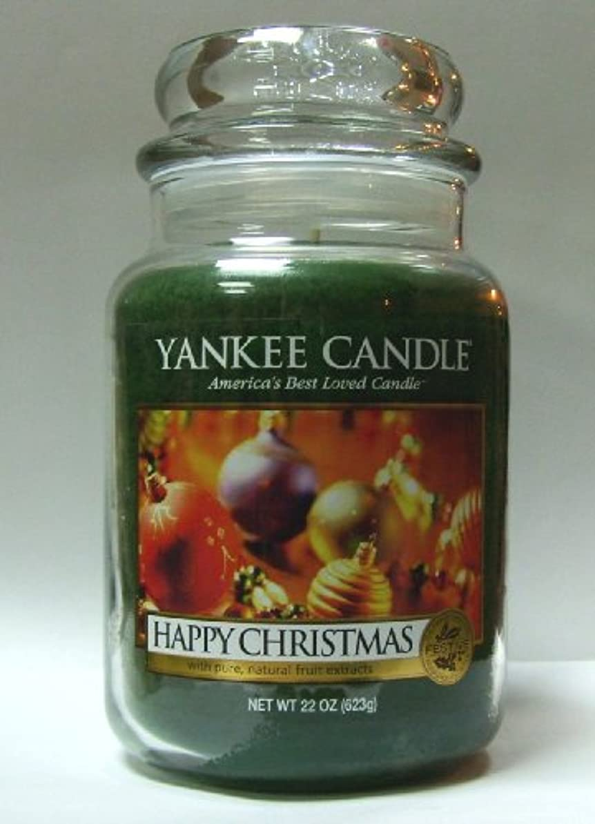 習熟度ランタンアーティキュレーションHappyクリスマスYankee Candle 22oz Large Jar