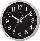 リズム時計 DAILY ( デイリー ) クォーツ 掛け時計 フラットフェイスDN 見やすい オフィス スタンダード ブラック 4KGA06DN02