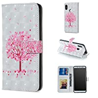 [Xiaomi Redmi Note 5 Pro] Case, MGVV Colorful Printed PU Leather Wallet Case with Card Holder/Magnetic Closure Flip Cover for Xiaomi Redmi Note 5 Pro Tree
