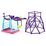 Finger Monkey Jungle Gym and Swing Stand Play Set – Finger Monkey Jungle Swing Gym Playset, Finger Monkey Playset for Kids, Indoor and Outdoor Playset, Perfect Finger Monkey Accessories Gift