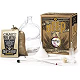 Craft A Brew Home Brewing Kit for Beer – Craft A Brew Hefeweizen Beer Kit – Starter Set 1 Gallon - Reusable Make Your Own Bee