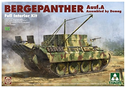 Tucows 1/35 plastic model type Demag Germany A Berge Panther military factory-made TKO2101
