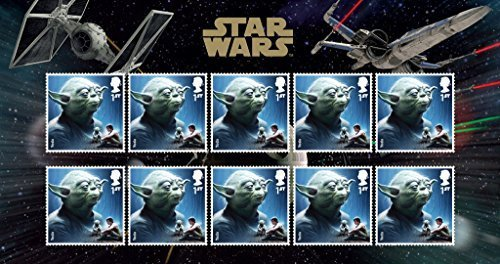 Star Wars The Force Awakens Darth Yoda Royal Mail Collectible Stamps [並行輸入品]