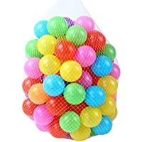 [OneStepAdvance] カラーボール おもちゃボール 7色100個 直径5.5cm やわらかポリエチレン製 収納ネットセット(プール/ボールハウス用)