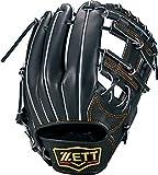 ZETT(ゼット) 軟式野球 グラブ (グローブ) プロステイタス セカンド・ショート用 右投げ用 ナイトブラック(1900N) 専用グラブ袋付き サイズ:2 BRGB30024