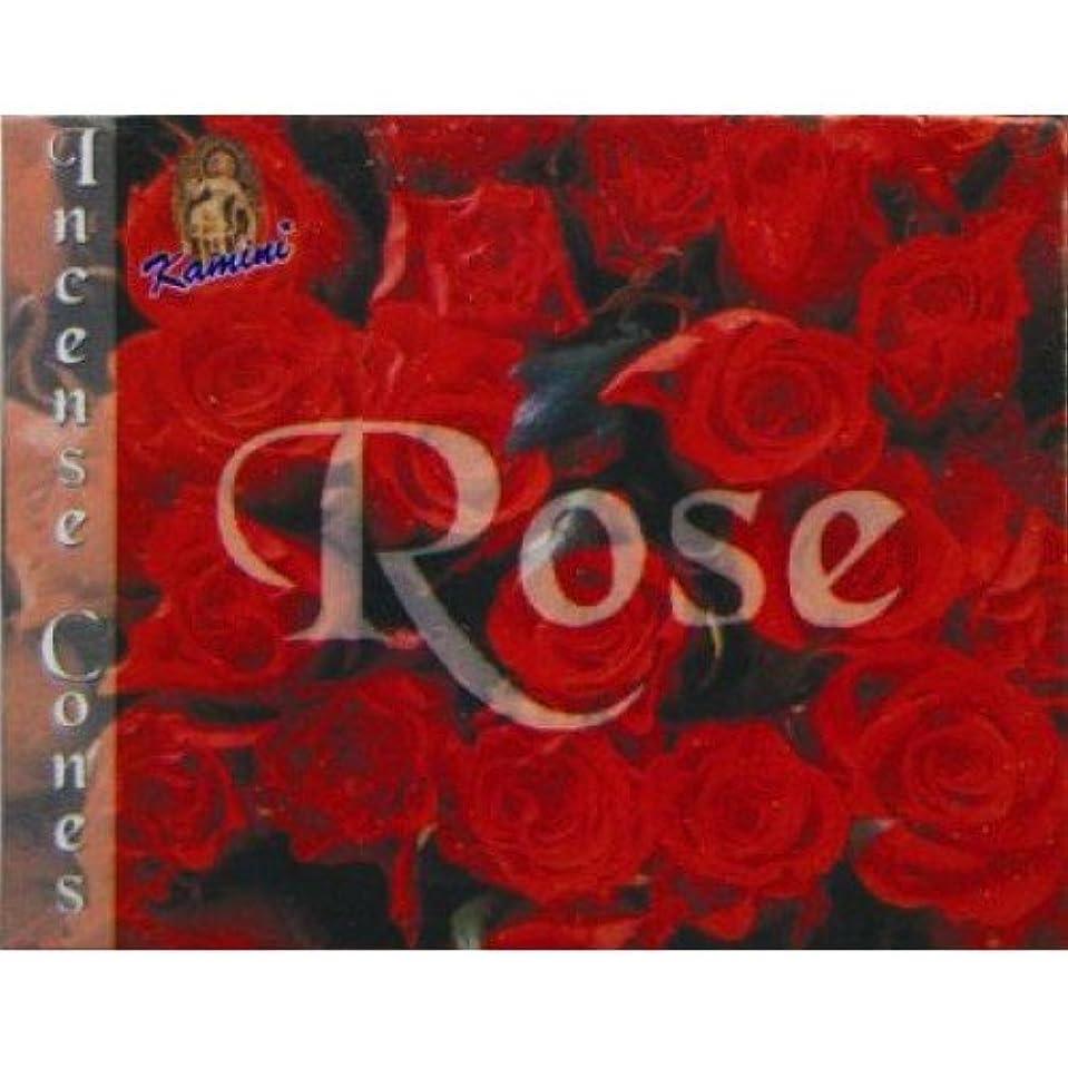 侵入する略奪自体Kamini Rose Incense Cones