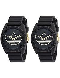 [アディダス] adidas メンズ レディース ユニセックス ペアウォッチ サンティアゴ 防水 ブラック&ゴールド シリコン ADH3197ADH3197 腕時計 [並行輸入品]