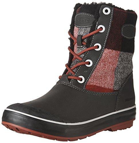 キーン(KEEN) ウィメンズ Elsa L Boot WP(エルサ エル ブーツ ウォータープルーフ)Red Dahlia/Plaid 1017403 RedDahlia/Plaid US6