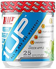 1UP Nutrition All-In-One Pre-Workout Formula for Men, Green Apple 450 g,, Green Apple 450 grams