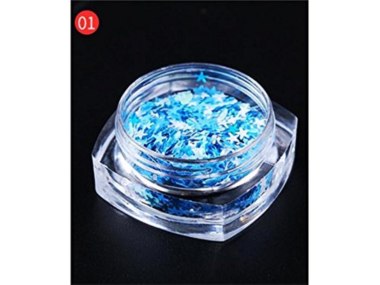 消毒剤まともな孤児Osize DIYのキラキラ輝く星のスパンコールのためのマルチシェイプのキラキラの色鮮やかなスパンコールはネイルアートと装飾(青)
