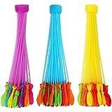 風船  水風船  マジックバルーン 大量  おもちゃ  水合戦  水爆弾  ゴムバルーン  プール遊びに最適 水を入れて投げ合う 暑い夏の水遊びに 子供のおもちゃ 60秒以内に一気に作れる 111個 (37個×3束) 【色ランダムです】