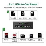UGREEN カードリーダー USB 3.0 高速メモリカードリーダライタ SD TF 拡張 2スロットカード同時使用可能