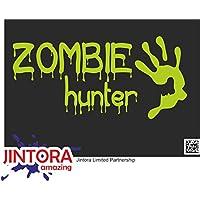 JINTORA ステッカー/カーステッカー - zombie huter - ゾンビ・ホータ - 207x99 mm - JDM/Die cut - 車/ウィンドウ/ラップトップ/ウィンドウ - 石灰