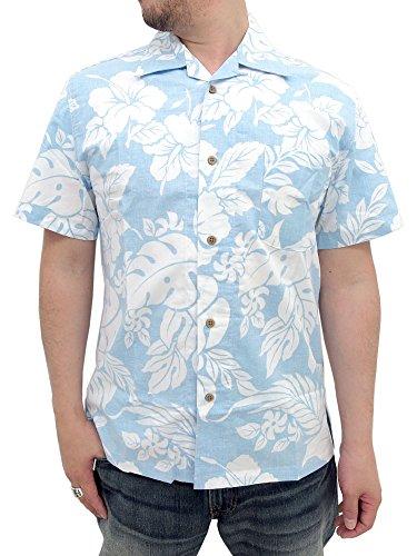 (ルーシャット)ROUSHATTE アロハシャツ 綿裏使い 20color L ライトブルー