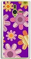 ohama DM014SH ディズニー・モバイル ハードケース ca622-1 花柄 レトロ ポップ フラワー スマホ ケース スマートフォン カバー カスタム ジャケット softbank