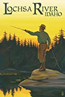 Lochsa川、アイダホ–Fly Fishingシーン 12 x 18 Art Print LANT-54661-12x18
