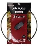 鍋蓋 ガラスふた フライパン 炒め鍋用 28cm  1年保証付き  evercook (エバークック)