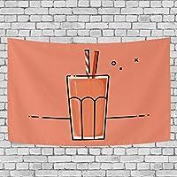 タペストリー 壁掛け 部屋 窓カーテン タピオカ タピオカジュース 飲み物 おしゃれ インテリア 個性 モダン 北欧 模様替え 家庭飾り 装飾用品 多機能 新居祝い 新居祝い ギフト 約丈152x101/130/203/208 cm